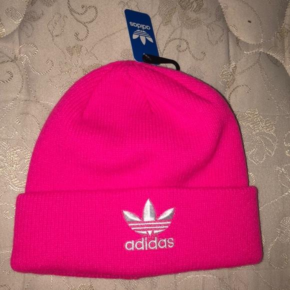 fd37b8d8712 NWT Solar Pink Adidas beanie